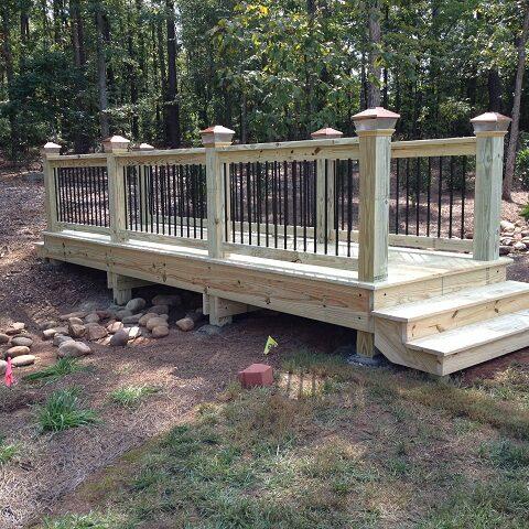 Custom design wooden bridge