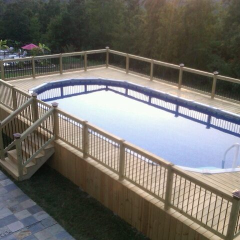 gated rectangle pool