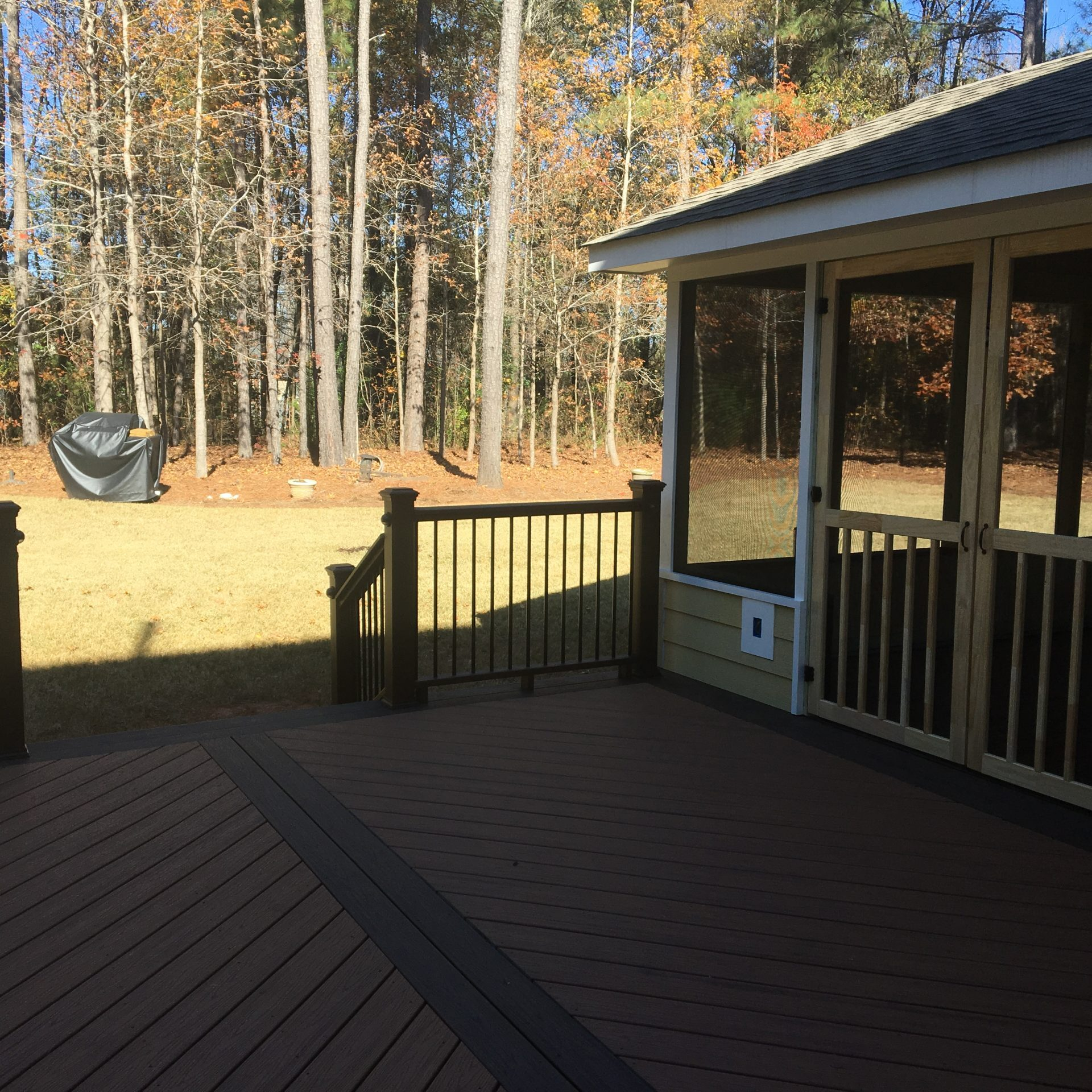 Deck and screen porch