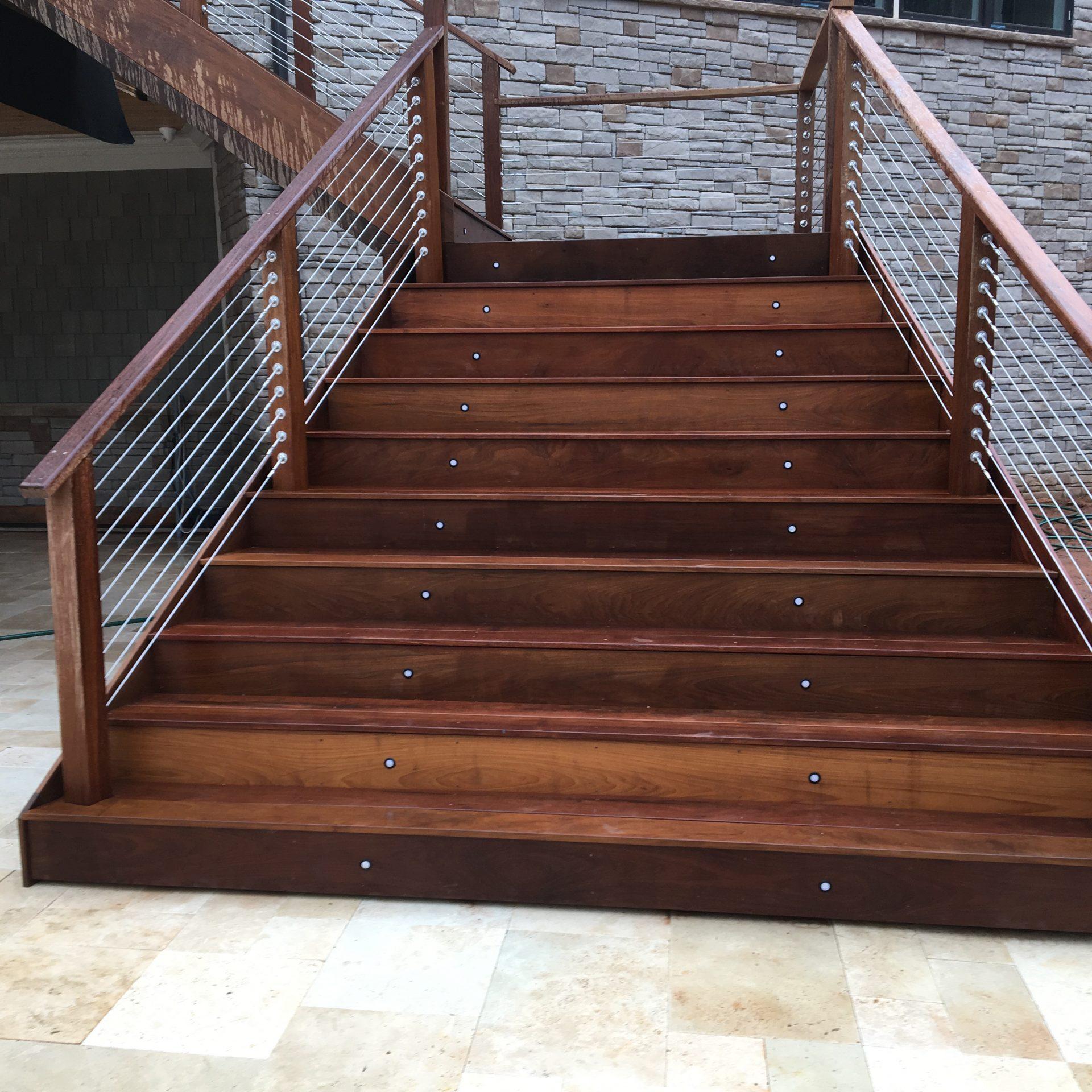 Ipe wood steps