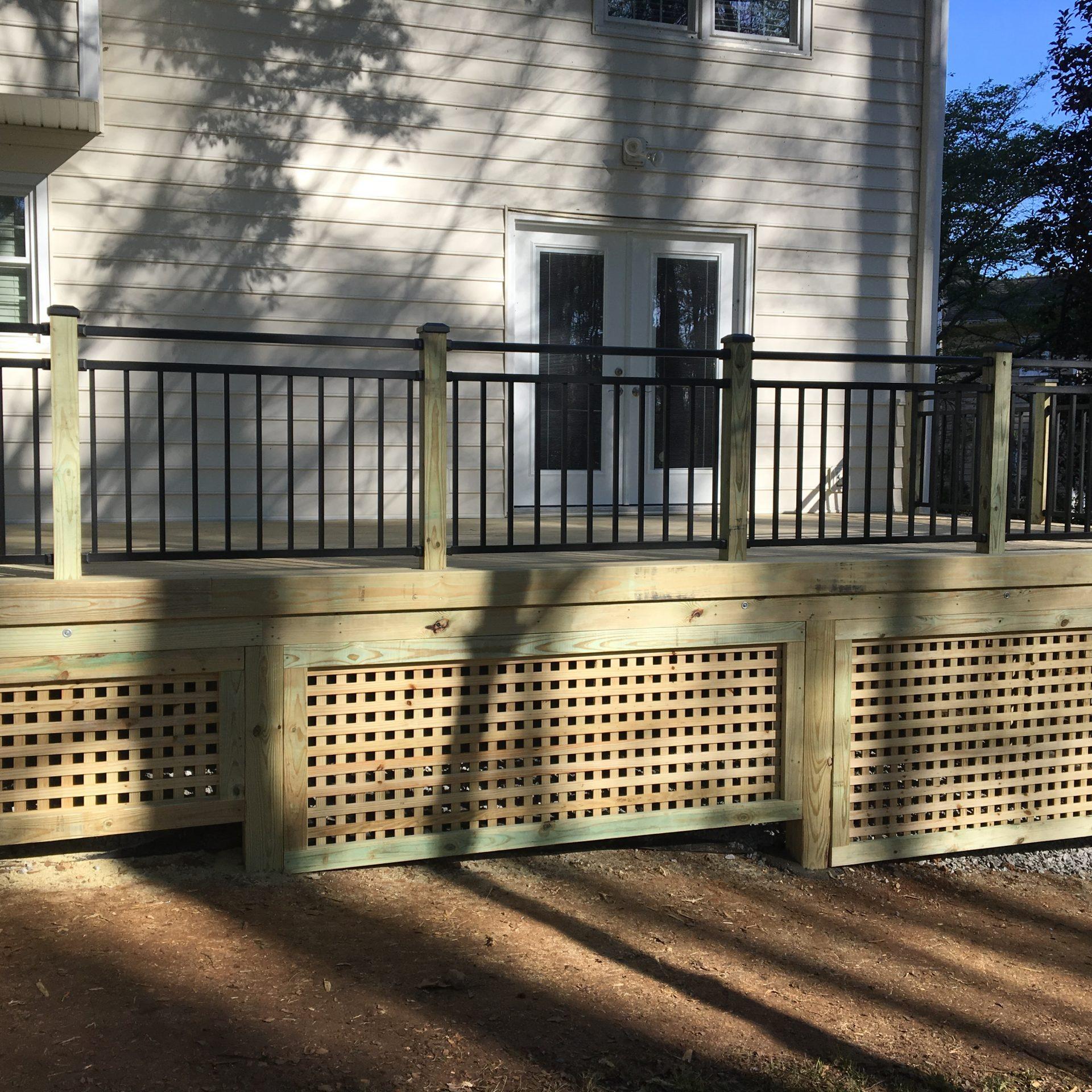 Wraparound Back Porch Deck
